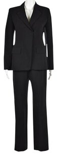 Max Mara Max Mara Womens Black Pant Suit Wool Solid Wtw Blazer Trousers