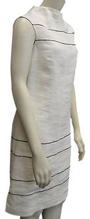 Max Mara short dress Ivories Ivory Textured Linen on Tradesy