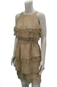 Max Mara Canon Beige Tiered Dress
