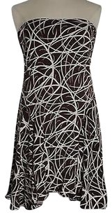 Max Studio short dress Brown Womens Printed Sun Strapless Summer on Tradesy