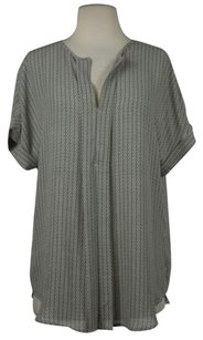 Max Studio Max Womens Short Sleeve Casual Shirt Tunic