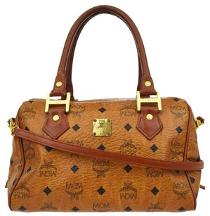 MCM 2way Leather Shoulder Bag