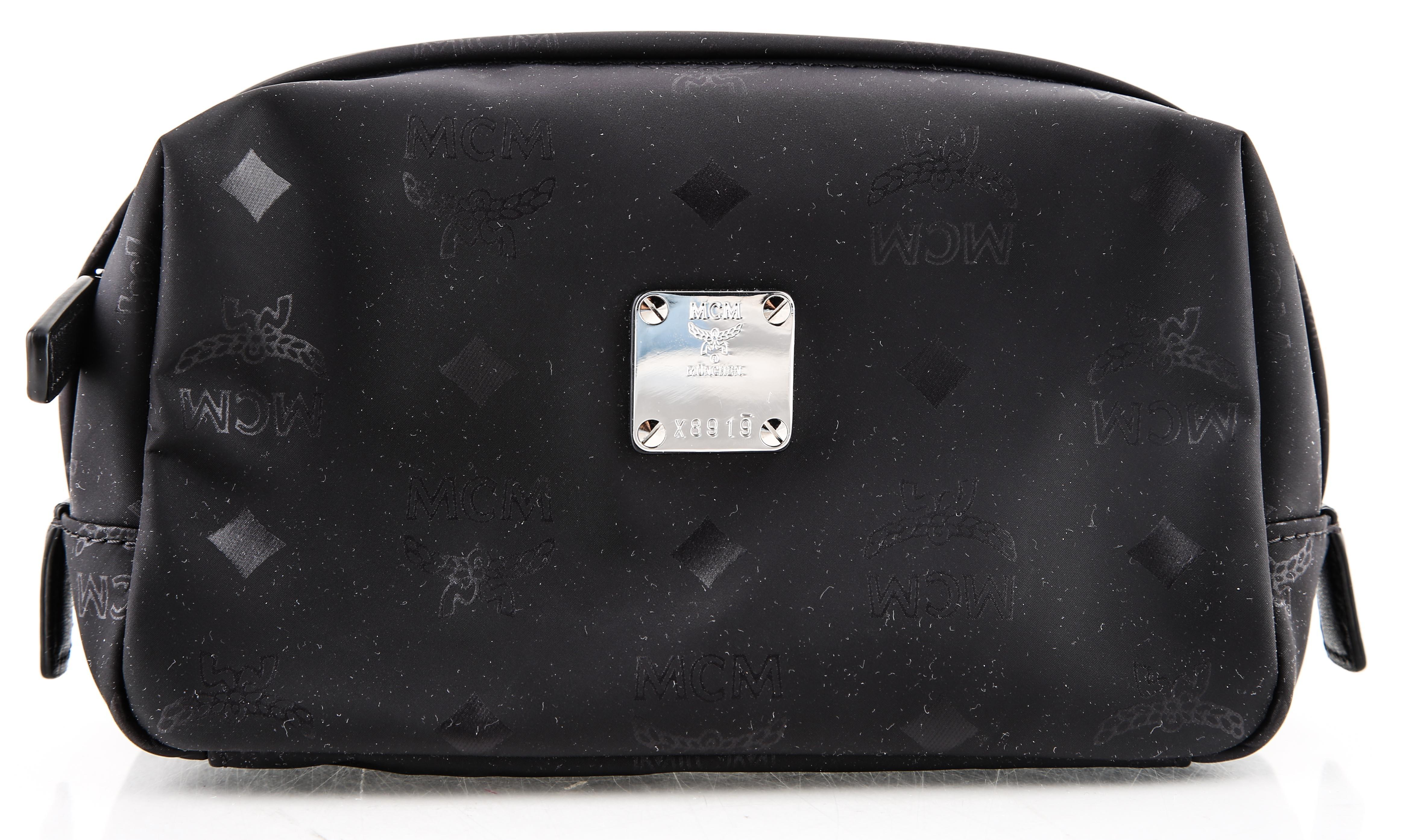 MCM Dieter Monogram Canvas Pouch YTGbExzScL