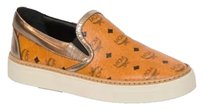 MCM Brown Flat Slip On Sneakers - Monogram Size 39 Cognac Athletic