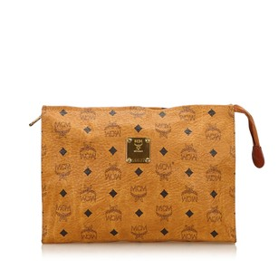 MCM Brown Leather Clutch
