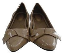 Me Too Nude Patent Leather Pointed Toe Casual W Bow 4280a Beige Flats