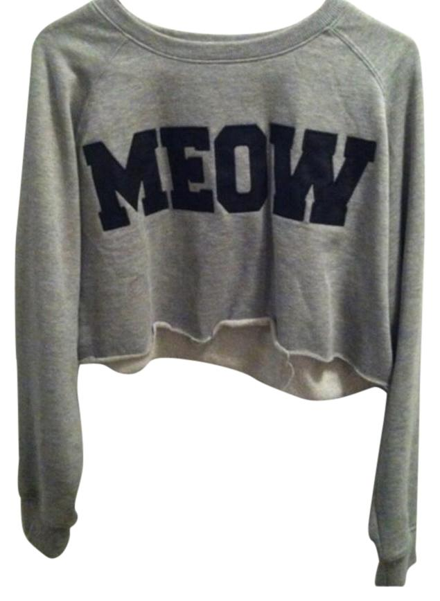 Meow forever 21 cropped sweater