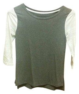 Merona T Shirt Grey and Ivory