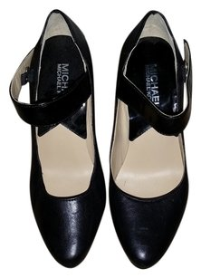 Michael by Michael Kors Mary Jane Patent Heels Black Pumps