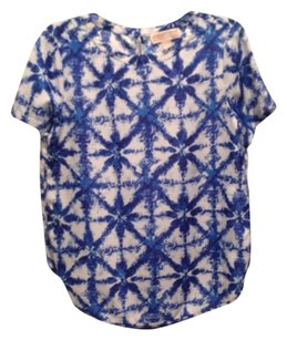 Michael by Michael Kors Top White and royal blue
