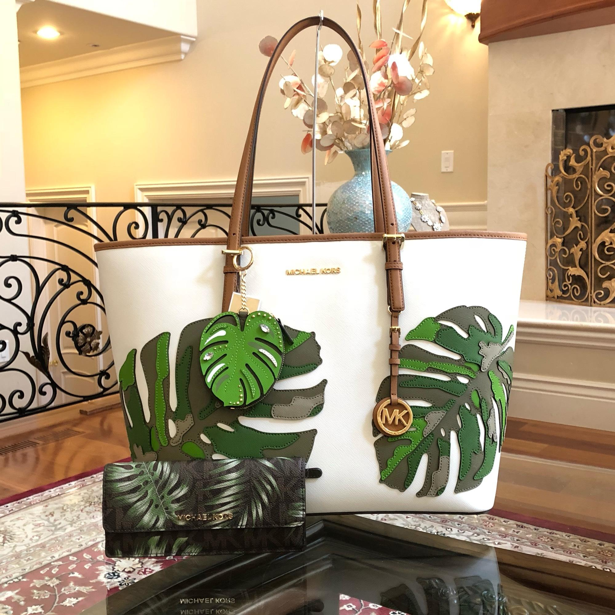 f758c40f9d6e ... jet set travel xs carryall tote ee1c0 001be where to buy michael kors  mk carryall saffiano leather travel carryall dusty rose tote in optic ...