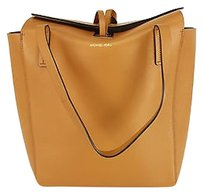 Michael Kors Leather Tote in beige