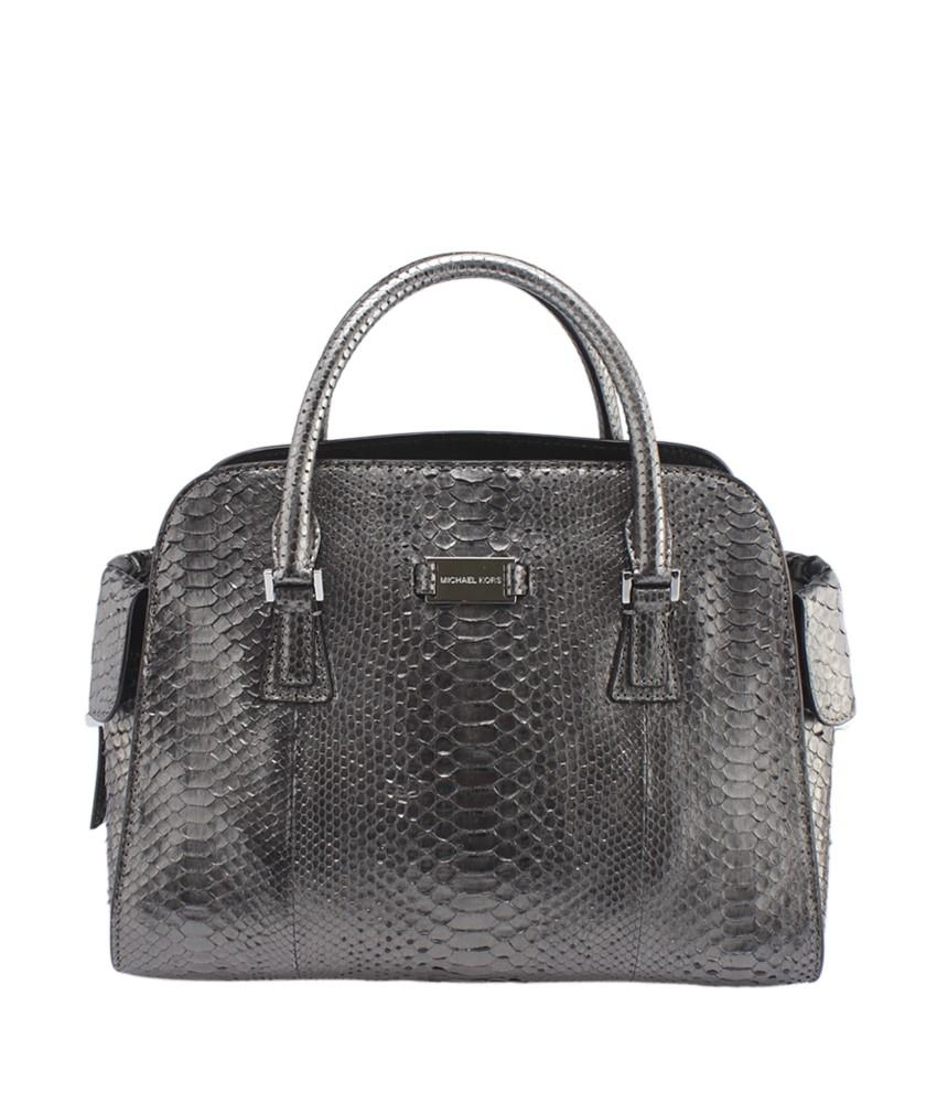 8b67899373aa ... discount code for michael kors python satchel in silver. michael kors  animal print 776e3 46db1