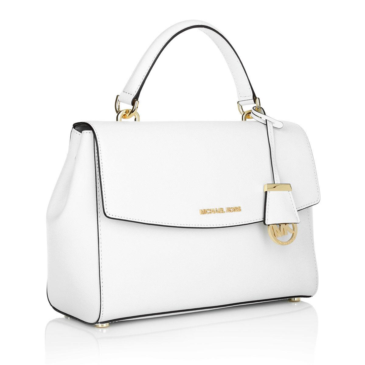 eaa1c0883e22 ... discount michael kors ava small handbag satchel in optic white 85d0d  35021