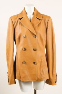 Michael Kors Leather Brown Jacket