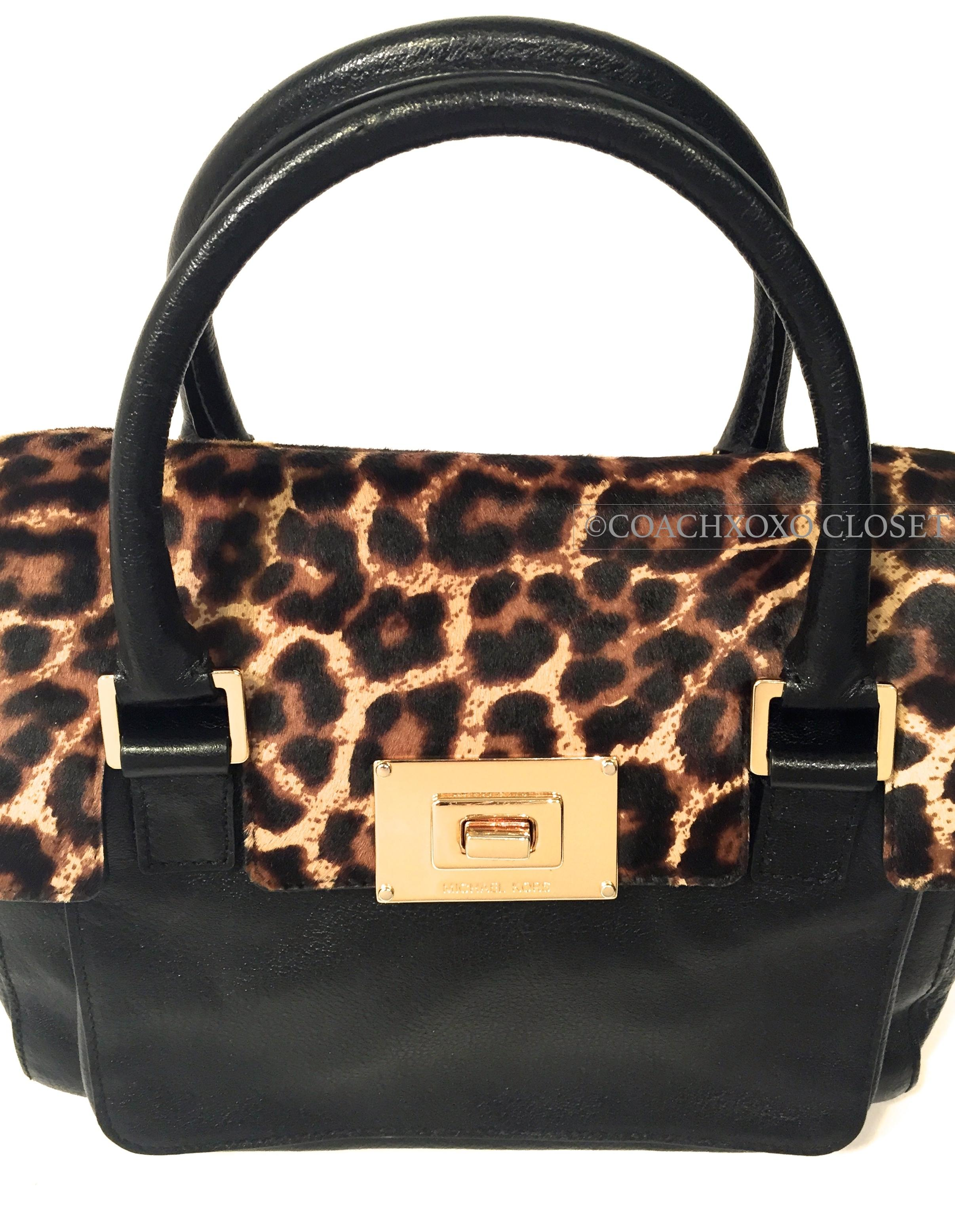 95d05a410919 ... czech michael kors calfskin leopard shoulder strap purse casual cross  body bag. 12345678 78a01 b8995
