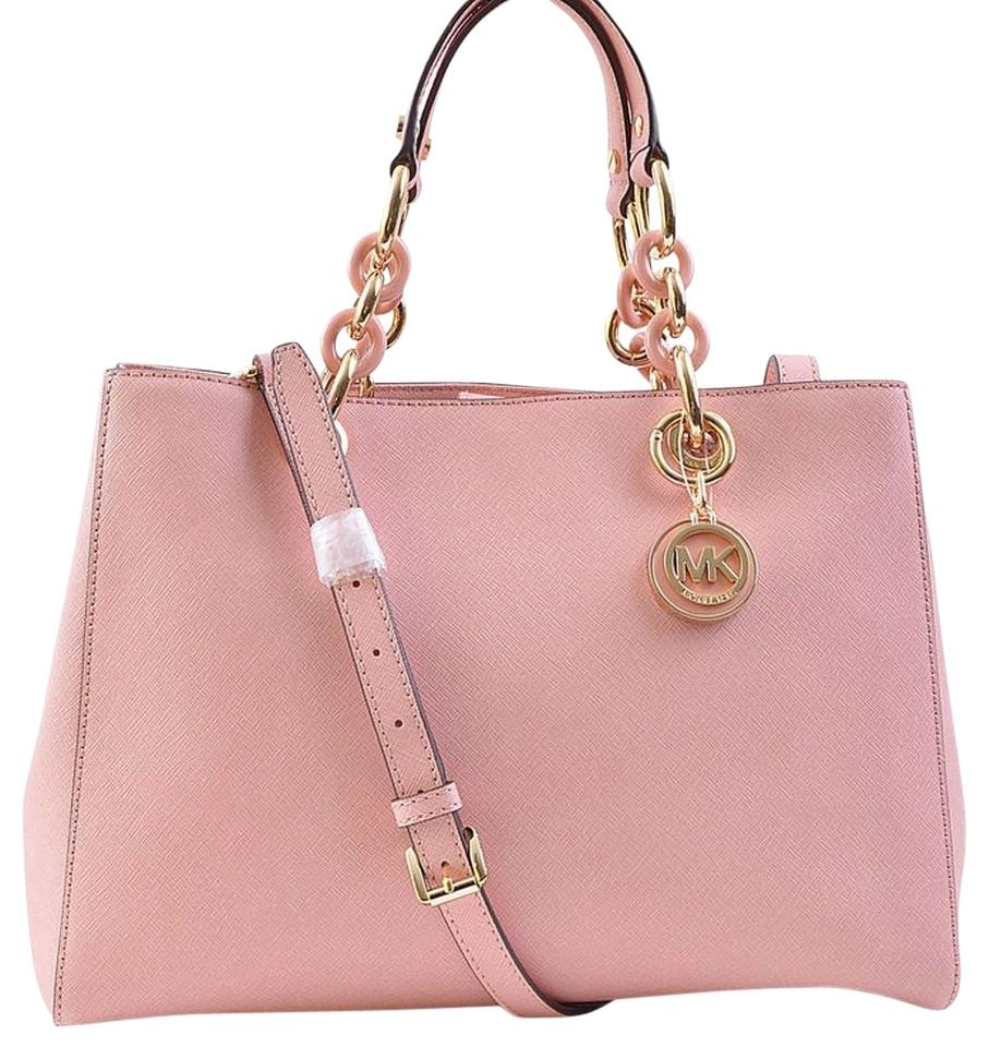 0dcca87c0800 ... best price michael kors cynthia medium new with tags pale pink gold  hardware saffiano leather satchel