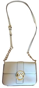 Michael Kors Gold Leather Cross Body Bag