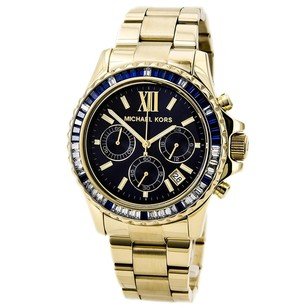 Michael Kors Michael Kors Gold-Tone Glitz Navy Dial Everest Watch