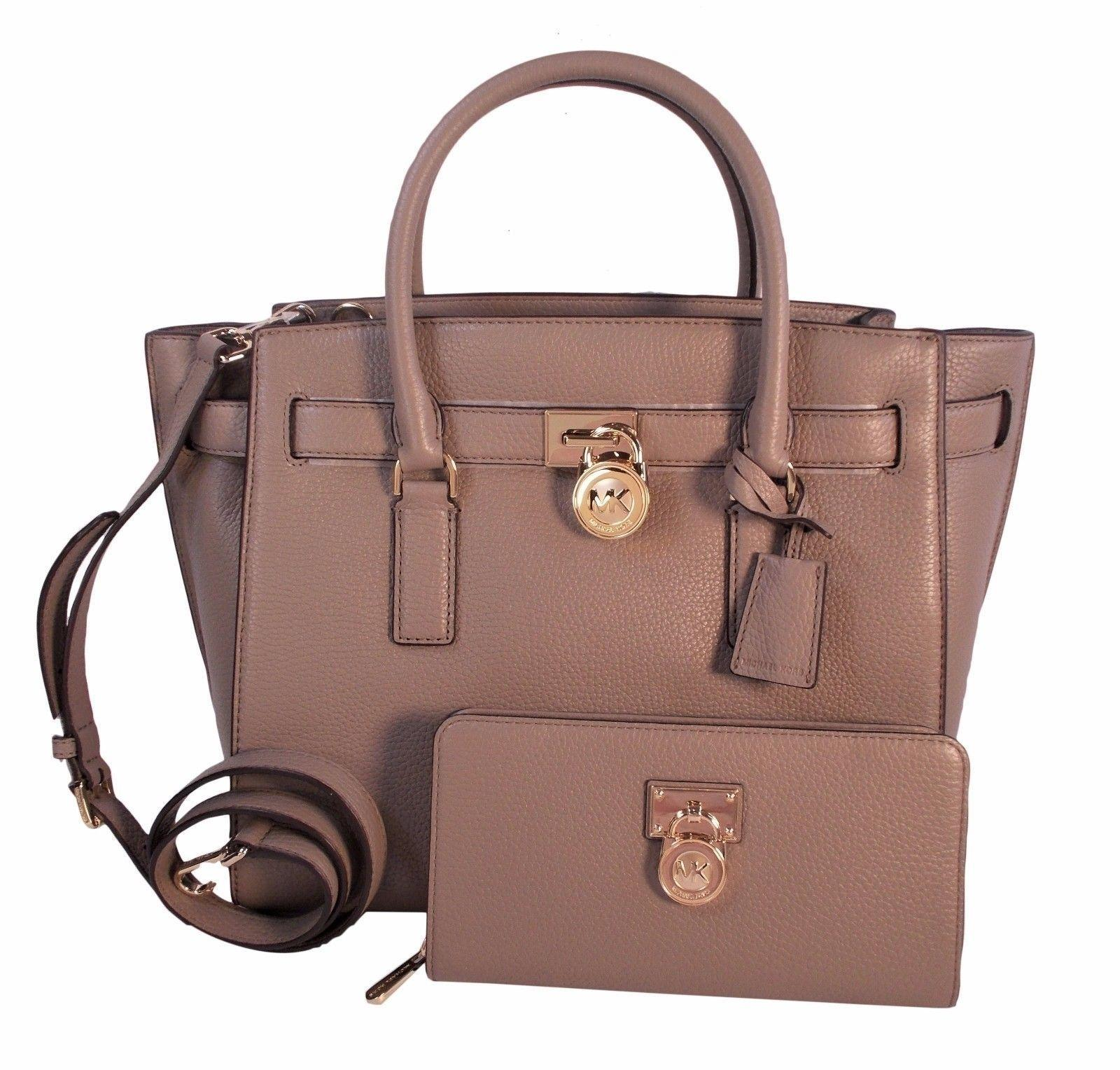 b80e044b1a ... where to buy michael kors hamilton traveler wallet satchel in dark  taupe e048d 1d802