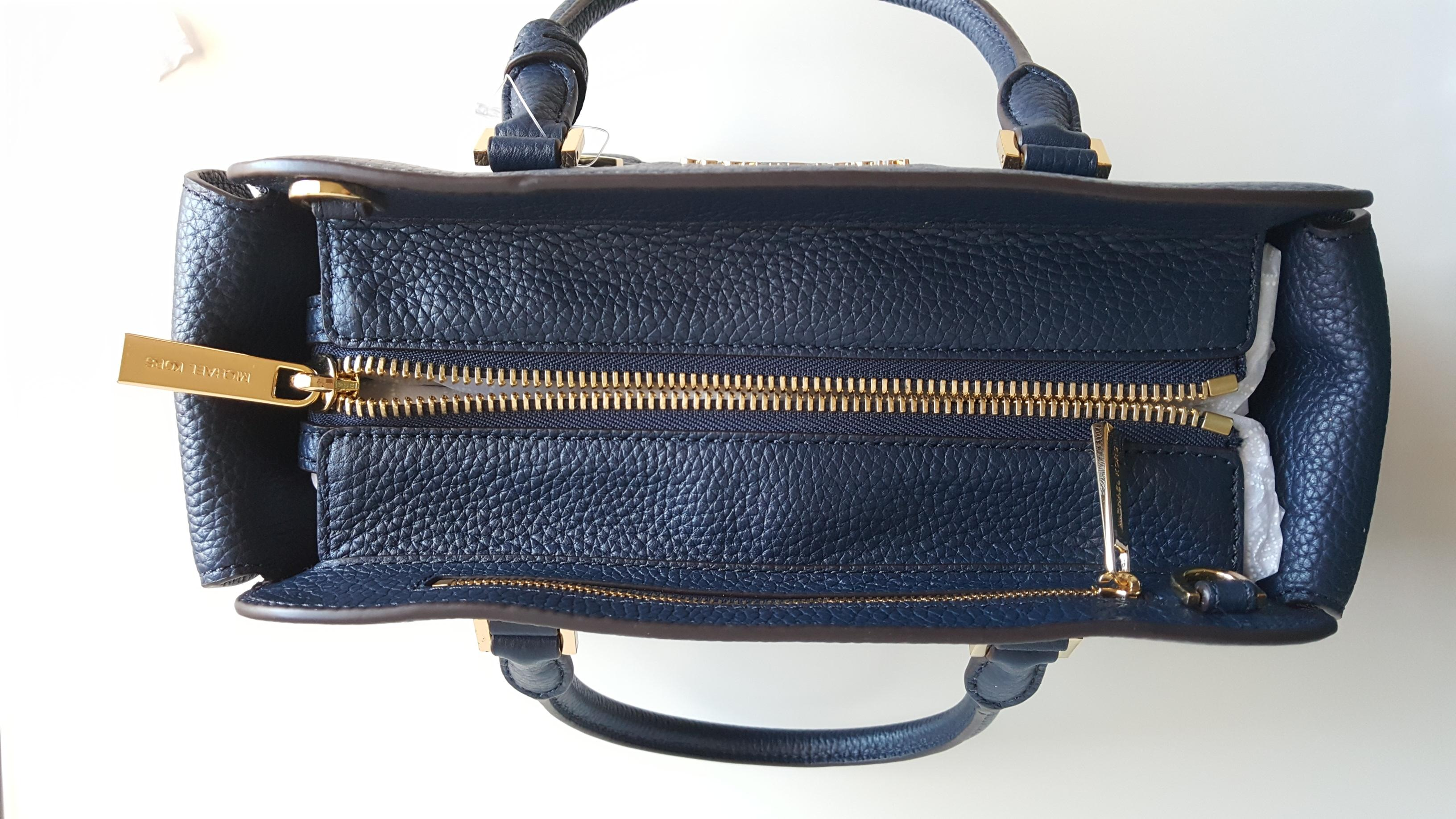 f3254586d0c1 ... reduced michael kors satchel in navy e1c7d 80ade