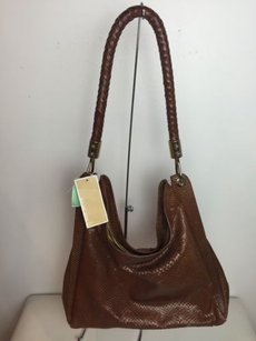 Michael Kors Mk Skorpios Cognac Top Zip Hobo Bag