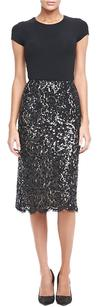Michael Kors Lace Pencil Skirt Black