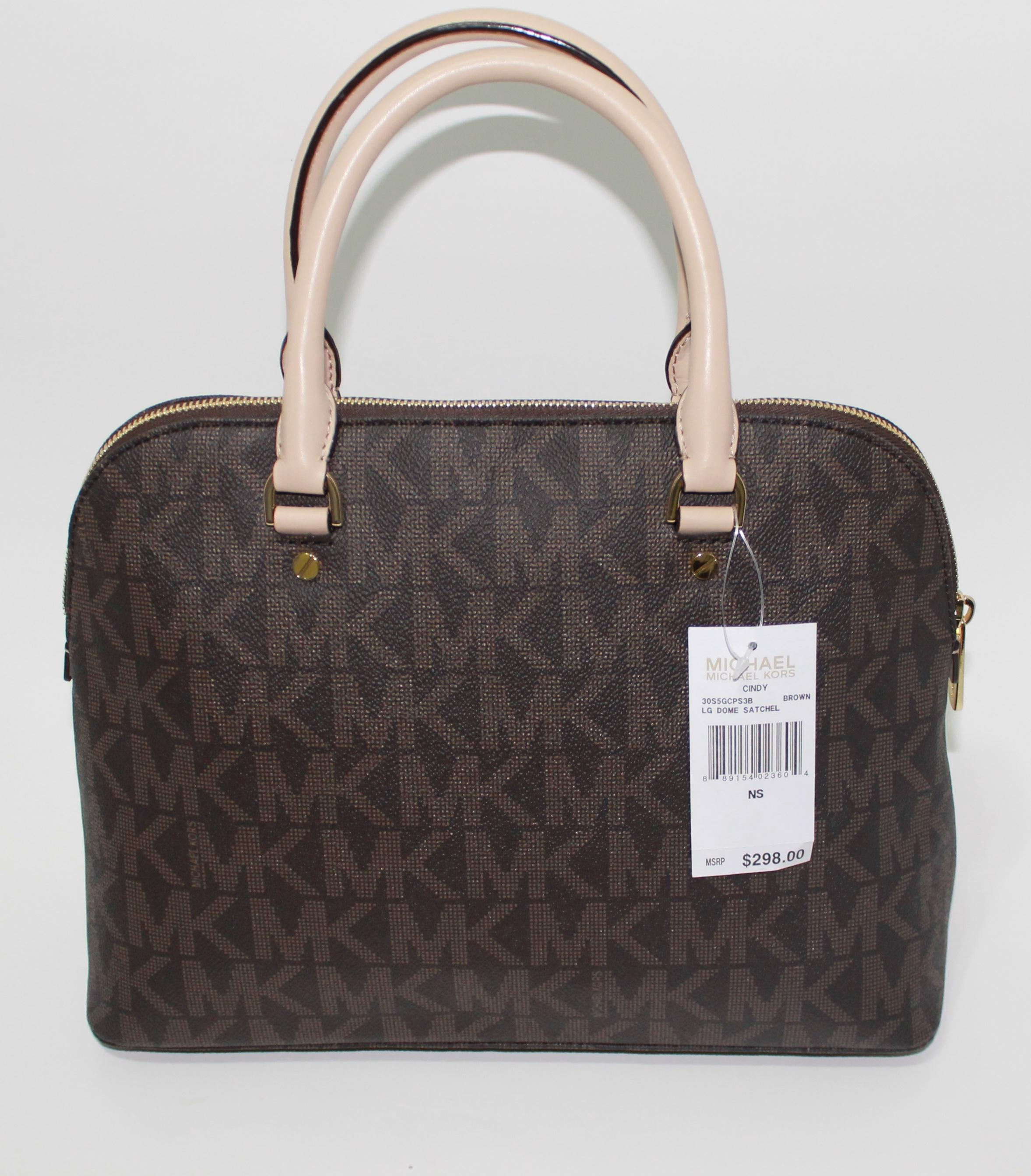 552406eb1fe9 ... new arrivals michael kors mk signature large cindy cindy 889154023604  purse logo handbag new with tags