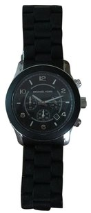 Michael Kors Michael Koors Men's MK8107 Runway Black Silicone Cronograph Watch