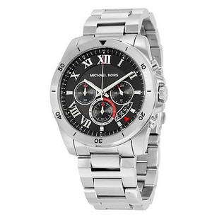 Michael Kors Michael Kors Brecken Chronograph Black Dial Stainless Steel Mens Watch