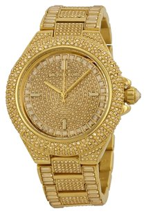 Michael Kors Michael Kors Camille Crystal Encrusted Gold Ion-plated Watch