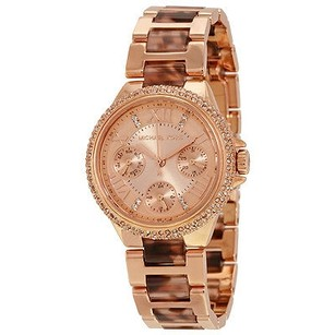 Michael Kors Michael Kors Camille Rose Gold-tone Stainless Steel Tortoise Ladies Watch
