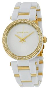 Michael Kors MICHAEL KORS Delray Pave White and Gold-Tone Ladies Watch