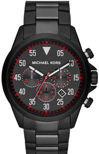 Michael Kors Michael Kors Men's Cage Black Stainless Steel Chronograph Watch