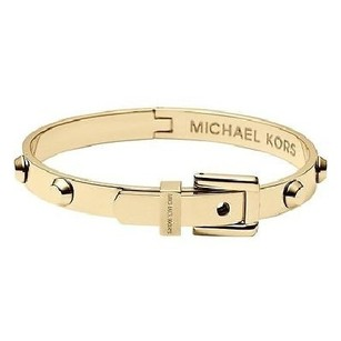 Michael Kors Michael Kors MKJ1819 Gold Tone Astor Stud Buckle Bangle Bracelet