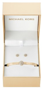 Michael Kors Michael Kors pave disc bangle with matching stud earrings
