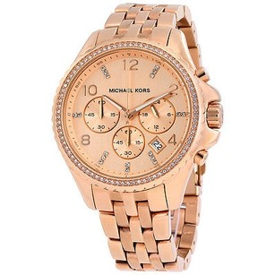 Michael Kors Michael Kors Pilot Chronograph Rose Dial Mens Watch