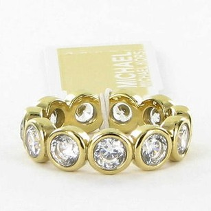 Michael Kors Michael Kors Ring Park Avenue String Of Crystals Band Gold-tone