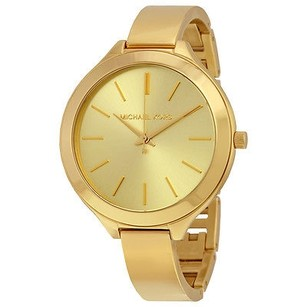 Michael Kors Michael Kors Slim Runway Champagne Dial Gold-tone Ladies Watch