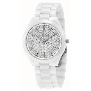 Michael Kors Michael Kors Slim Runway Crystal Pave Dial Ceramic Ladies Watch