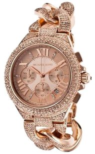 Michael Kors MICHAEL KORS WOMEN'S CAMILLE CRYSTAL ROSE GOLD TONE WATCH