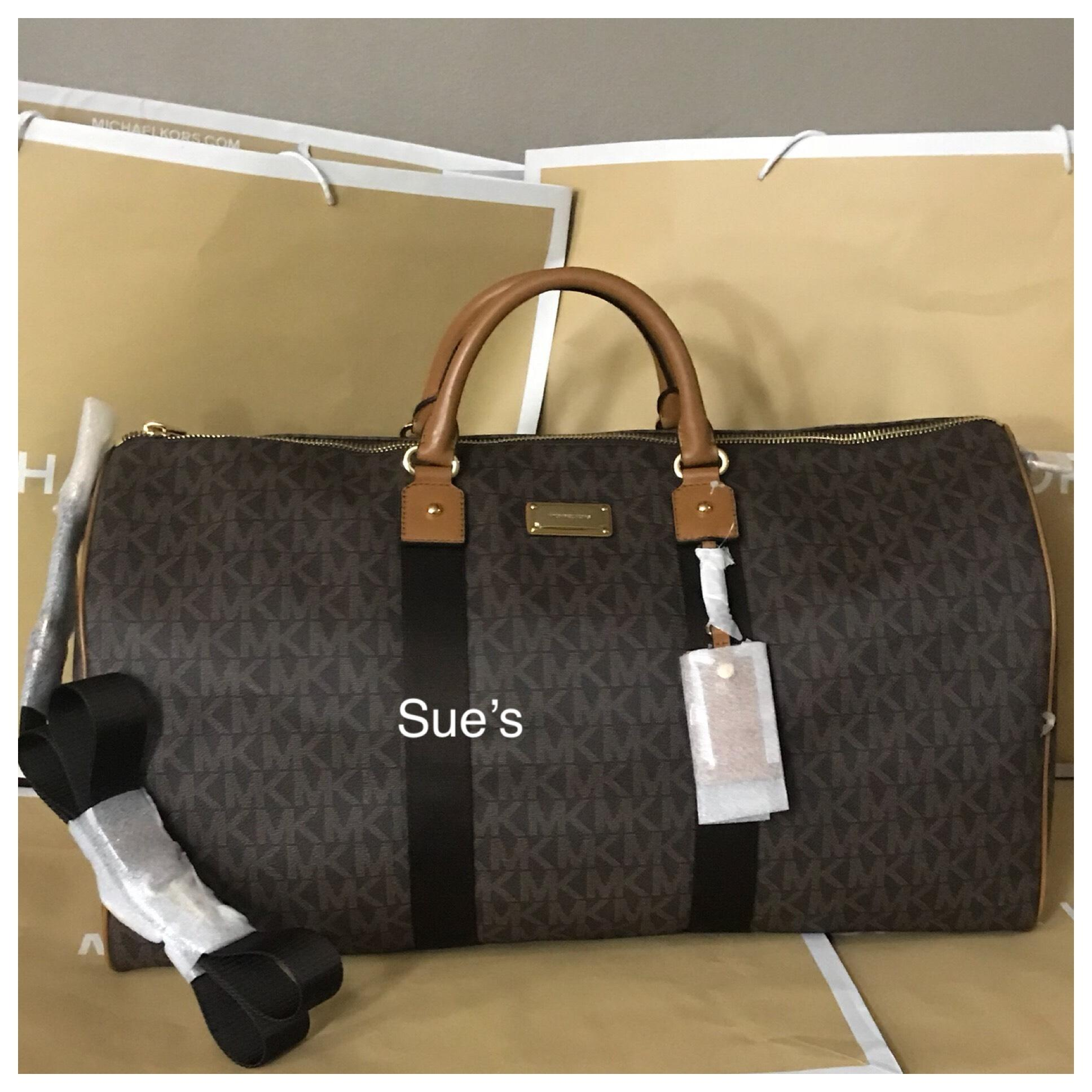 4a4b1deb748e ... spain michael kors brown travel bag 3d837 6d933 ...