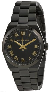 Michael Kors MK6100 Channing Black Dial Black Ion Plated Stainless Women's Watch