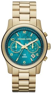 Michael Kors New! Watch Hunger Stop Runway Gold-Tone Stainless Steel Watch