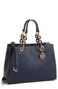 Michael Kors New With Tags Navy Gold Satchel in Navy/Gold