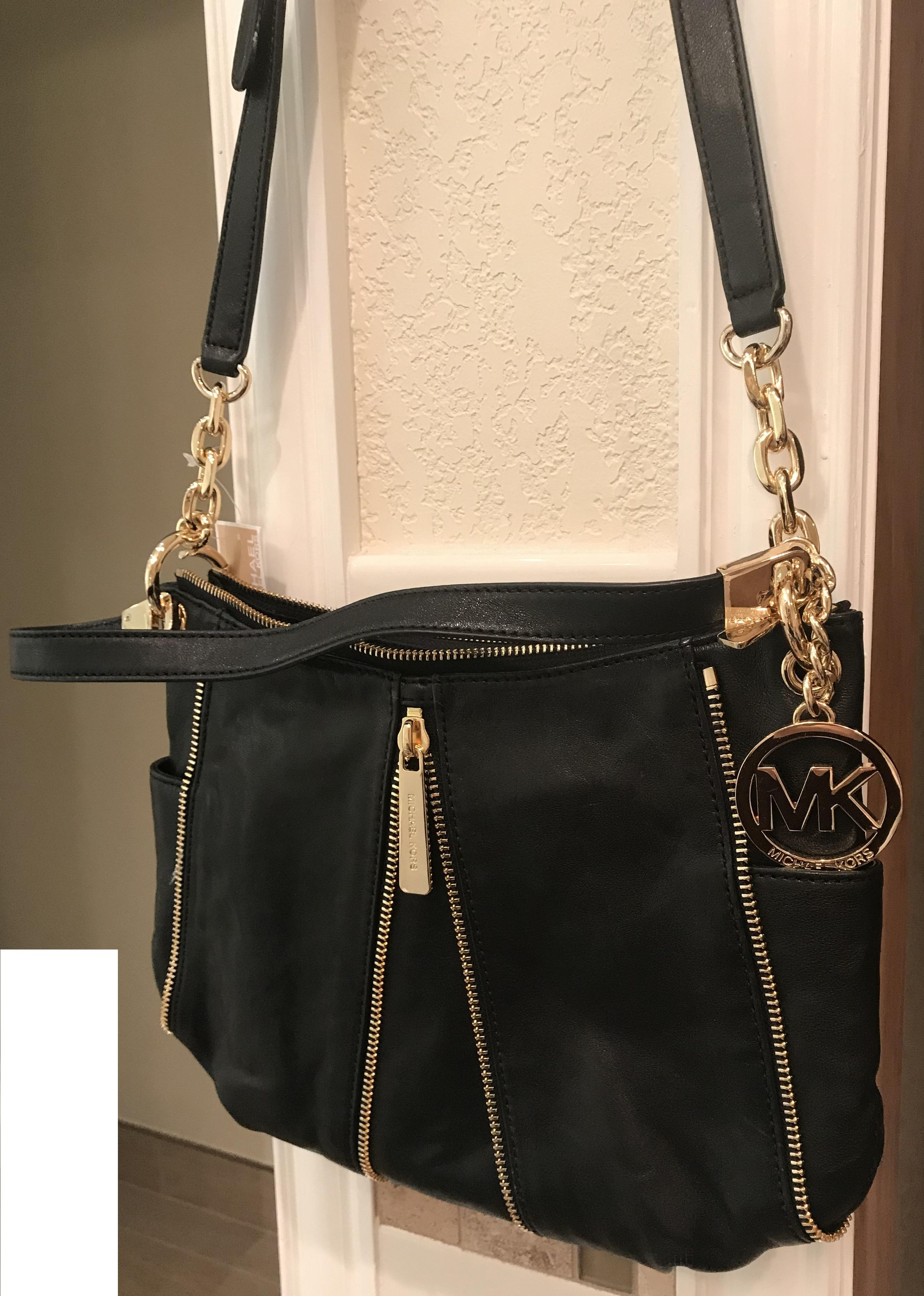 ... coupon code for michael kors newman medium hobo crossbody shoulder  black leather messenger bag tradesy bed95 ... 01fbc8240586f