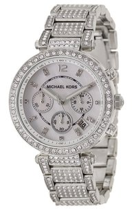 Michael Kors NWT Chronograph Parker Stainless Steel Watch MK5572