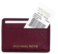 Michael Kors NWT MK Saffiano Leather Card Case Credit Card Holder Wallet