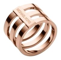 Michael Kors NWT. Size 6. Rose Gold Tone Tri Stack Open Bar Ring