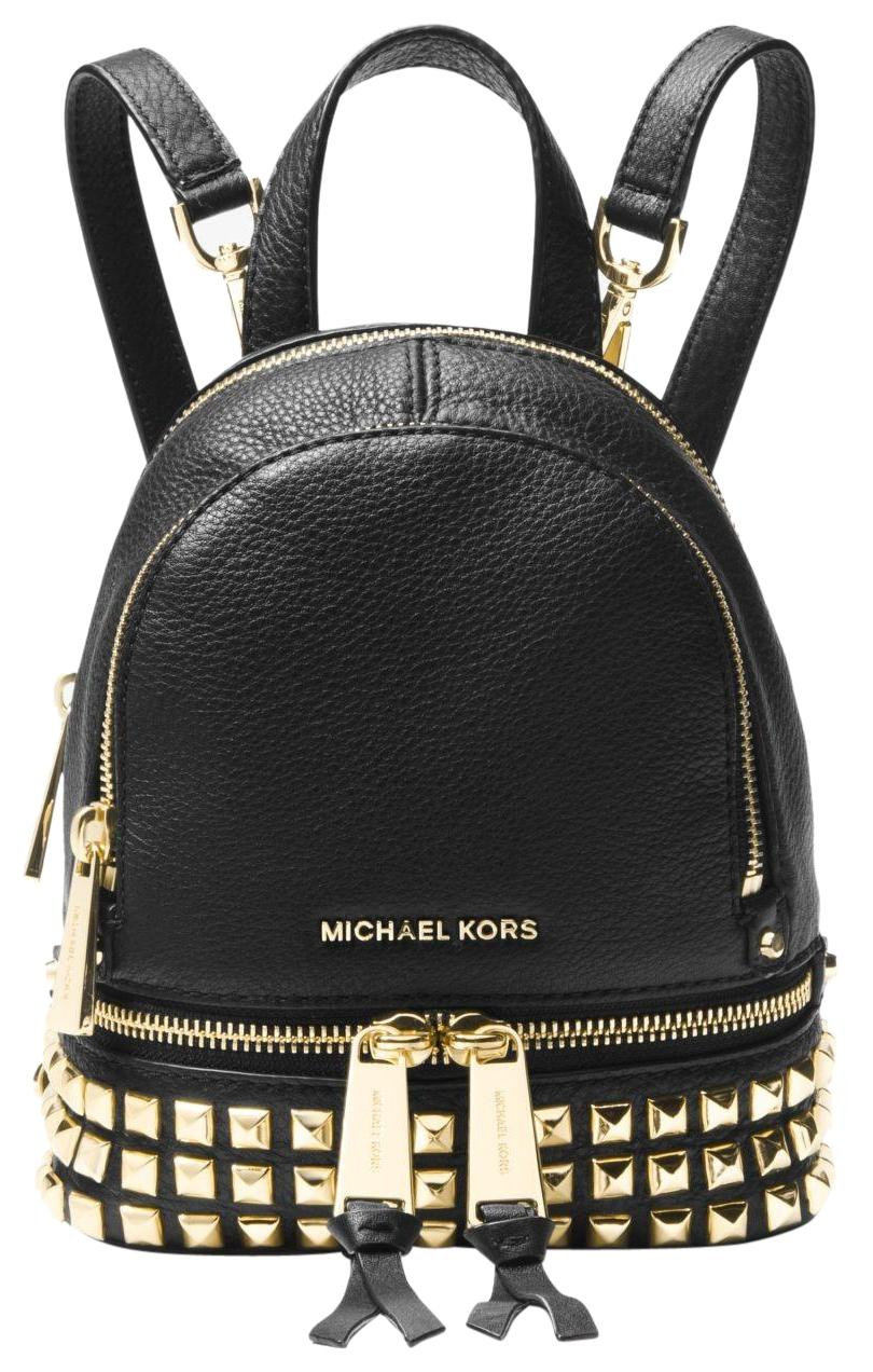 0110f8f9b289 australia michael kors rhea studded backpack black flag cb631 16845